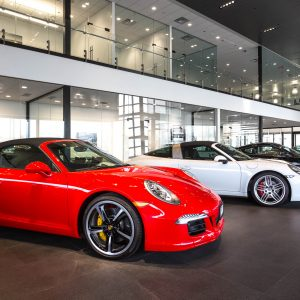 Porsche Car Dealership Seattle Architectural Photography