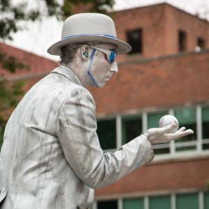 Portland Downtown Silver Statue