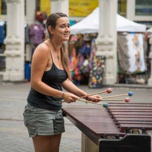 Portland Downtown Xylophone Player