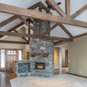 Architectural Photography of Custom Homes, Fireplace, Custom Kitchen