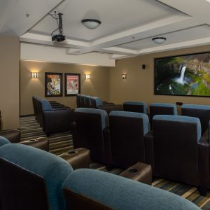 Affinity at Covington Interior Design Photography Home Theater Room