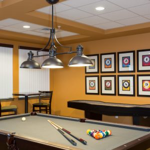Affinity at Covington Interior Design Photography Pool Table