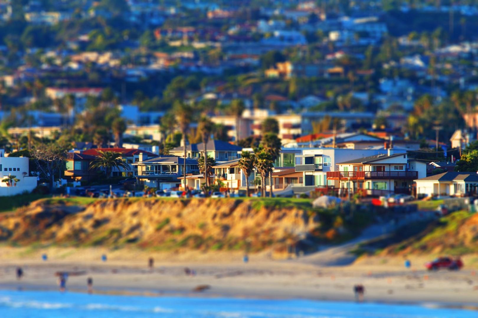 San Diego CA Miniature Effect