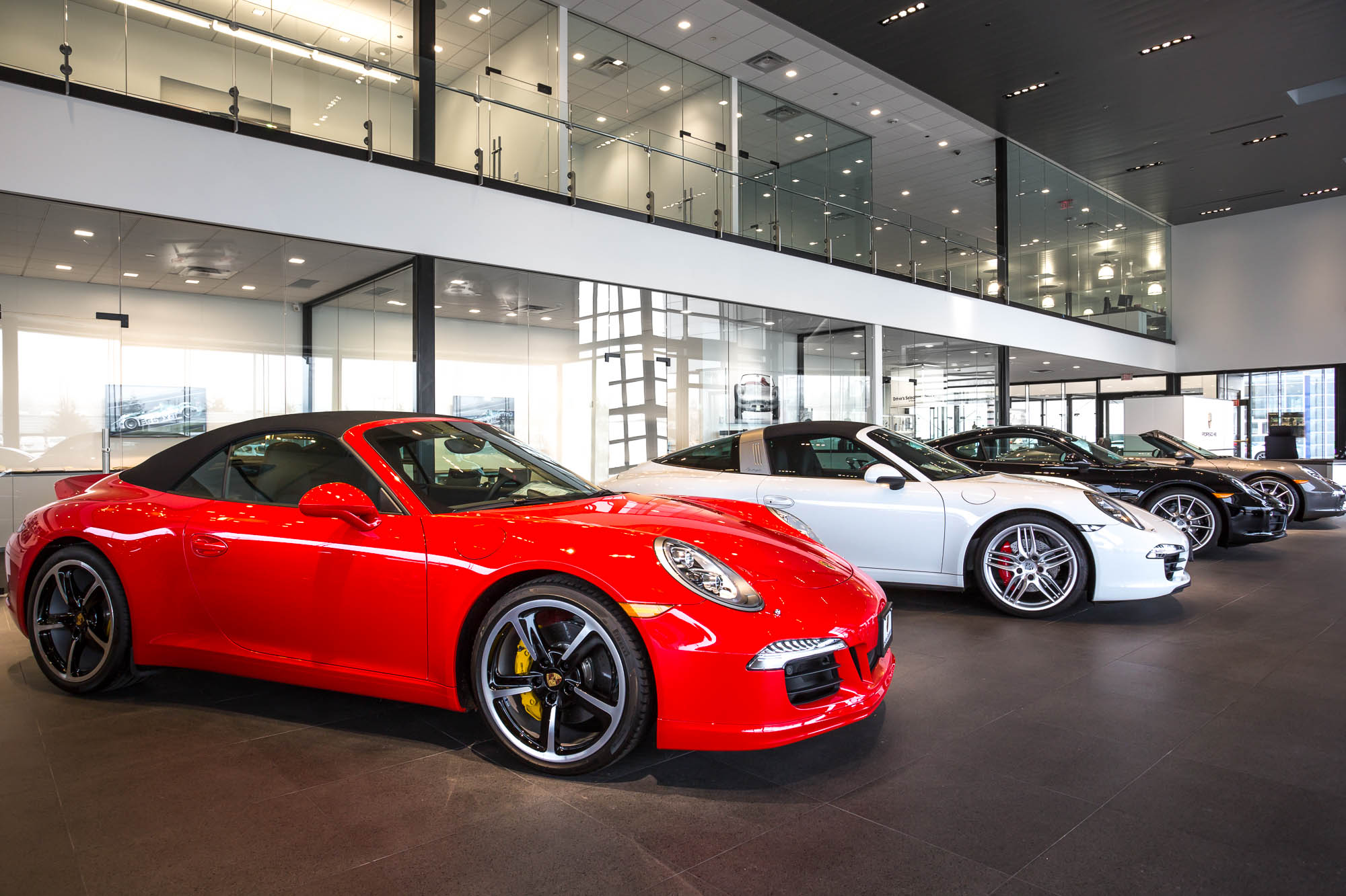 Porsche Car Dealership Seattle Architectural Photography