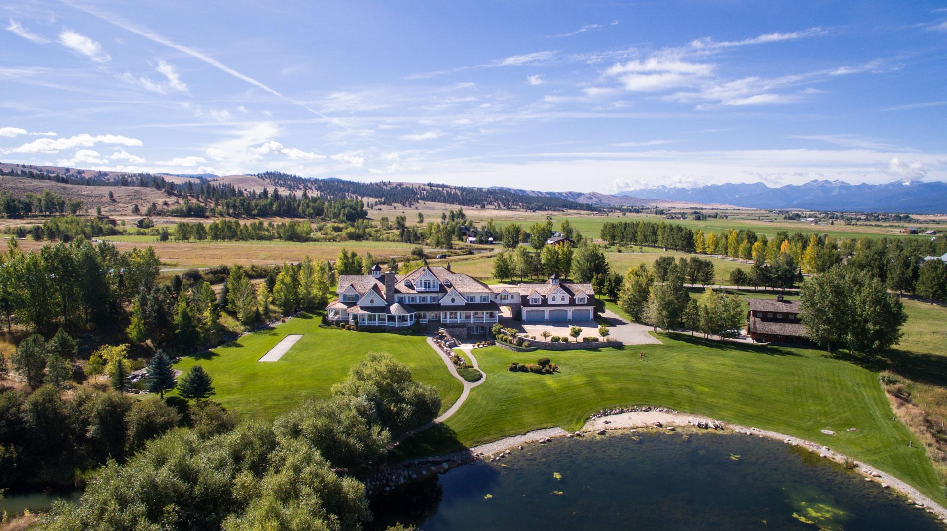 Hamilton Montana Cape Cod Style Mansion Rl Miller