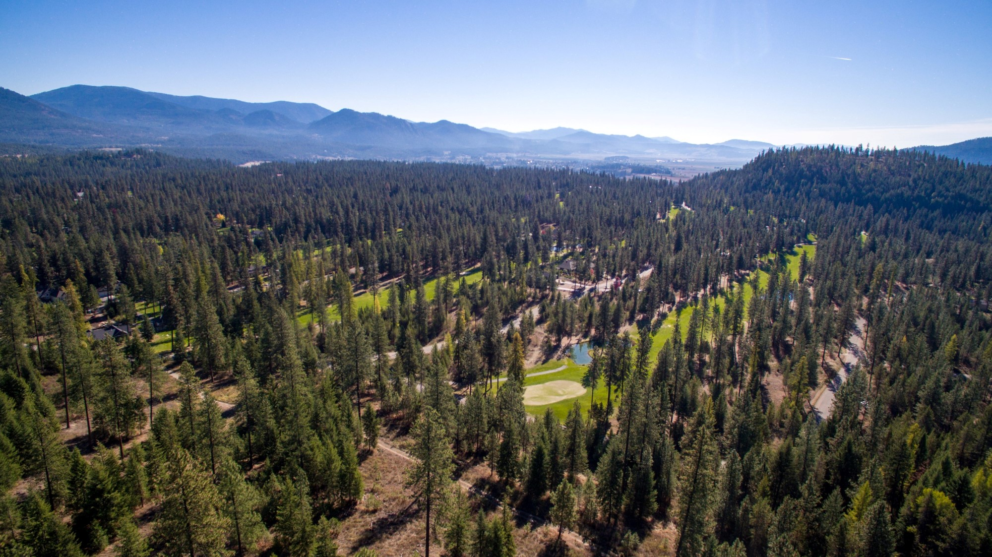 Drone Photo of Chewelah Golf Course and Country Club