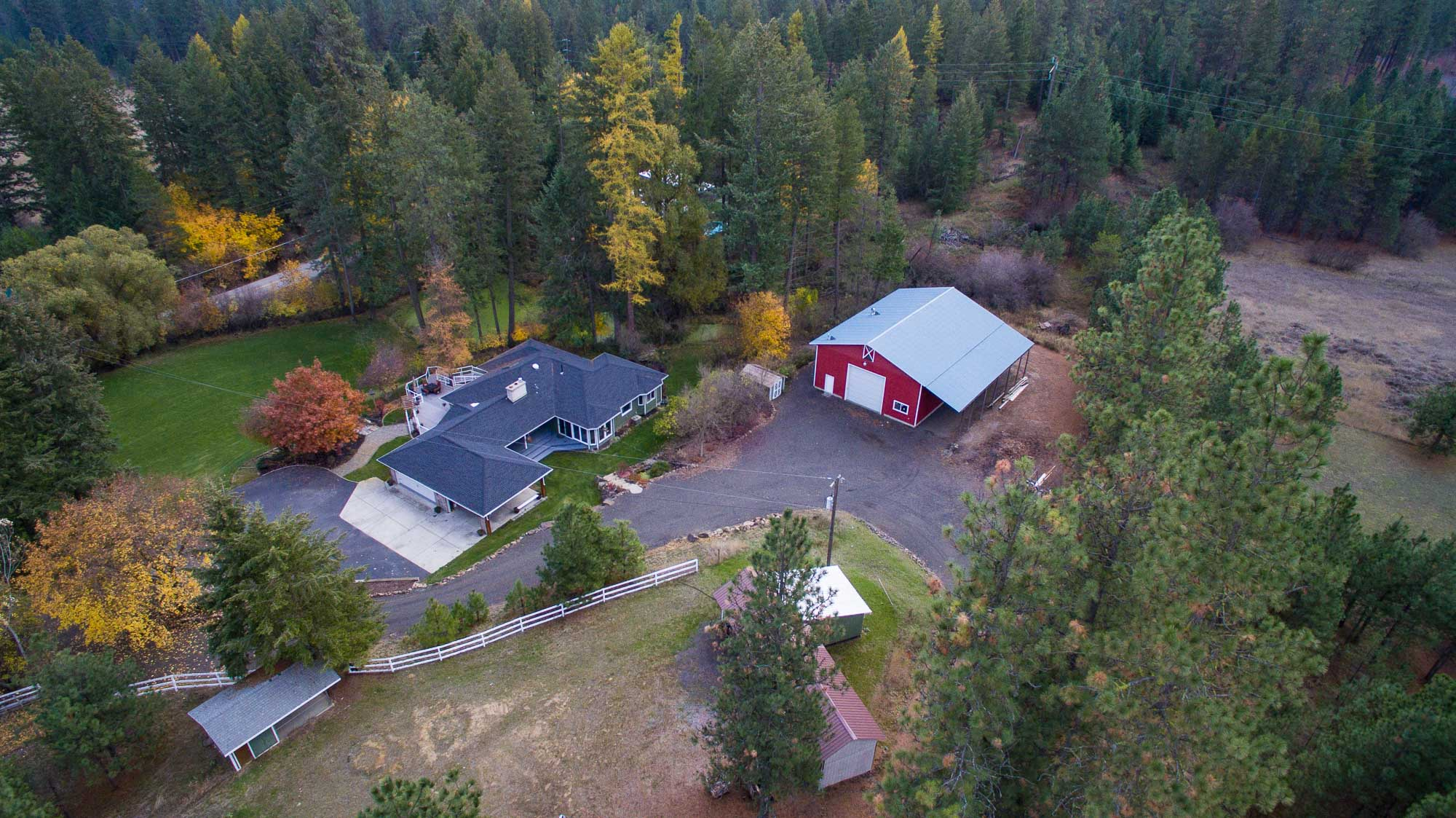 Drone Photo of North Spokane Real Estate Listing