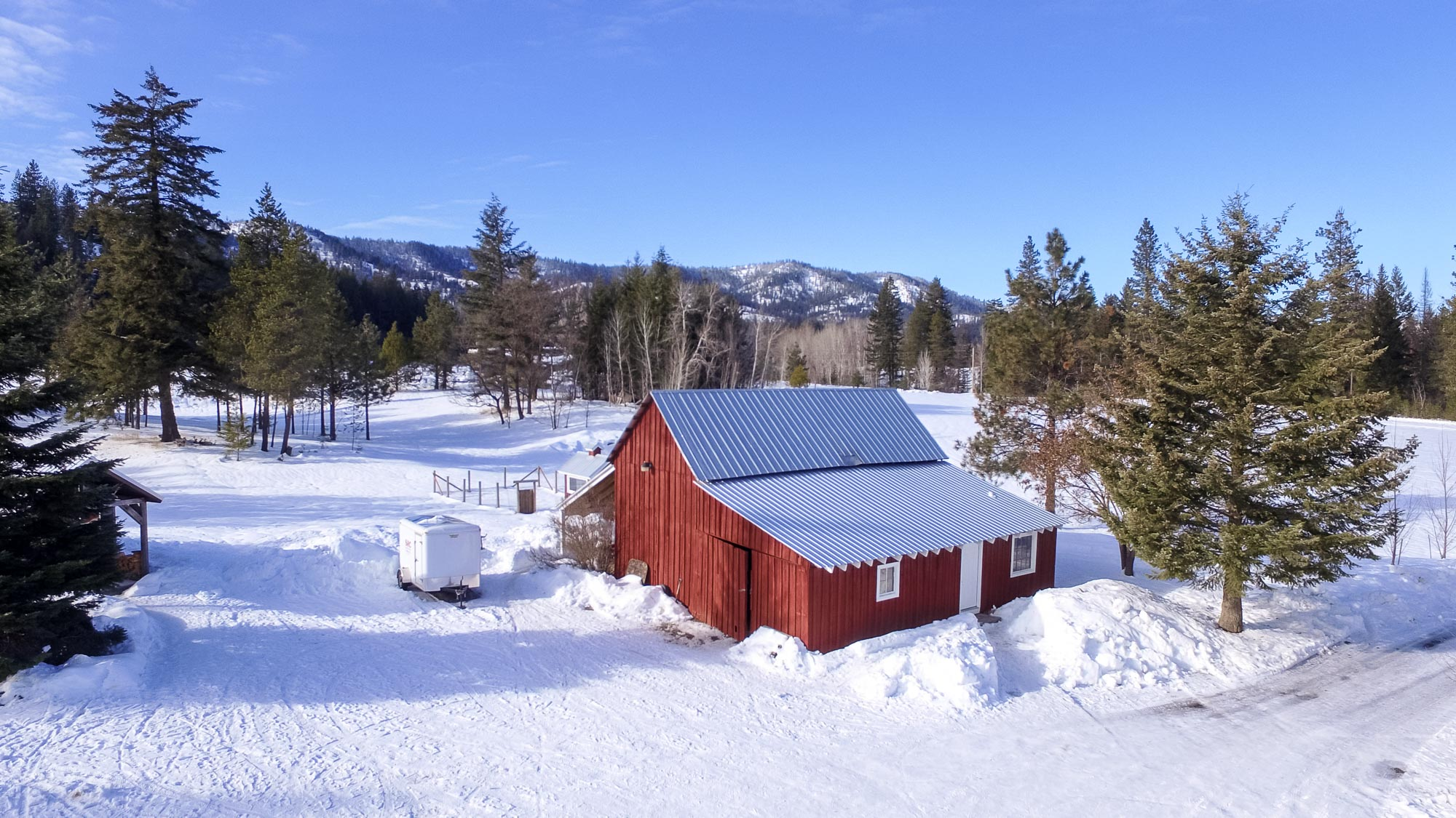 North Spokane Drone Photography Deer Park Red Barn