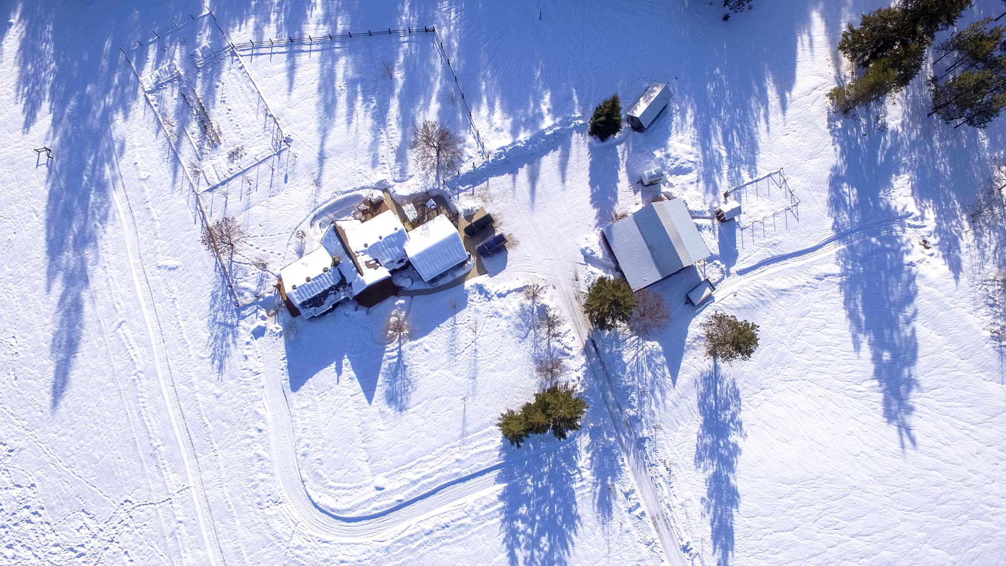 North Spokane Drone Photography Deer Park Red Barn