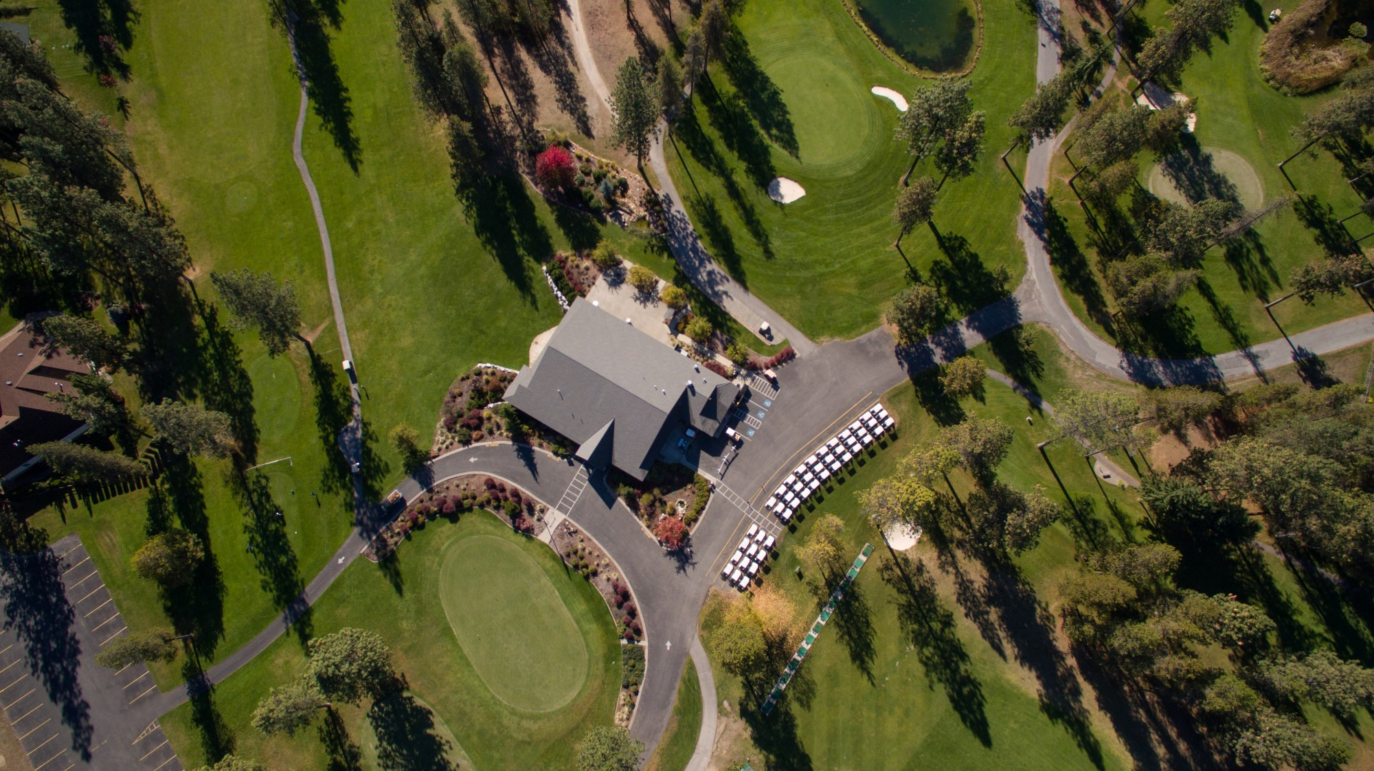 Chewelah Golf Course Aerial Drone Photo