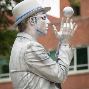 Portland Downtown Silver Statue