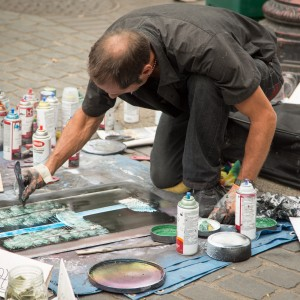 Portland Downtown Street Painter
