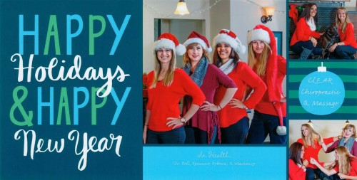 Clear Chirporactic Holiday Card