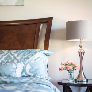 Interior Design Bedroom Lamp & Pillows