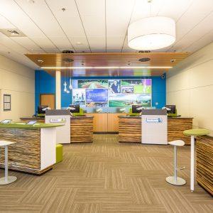 Numerica Credit Union South Regal Interior Design Photography