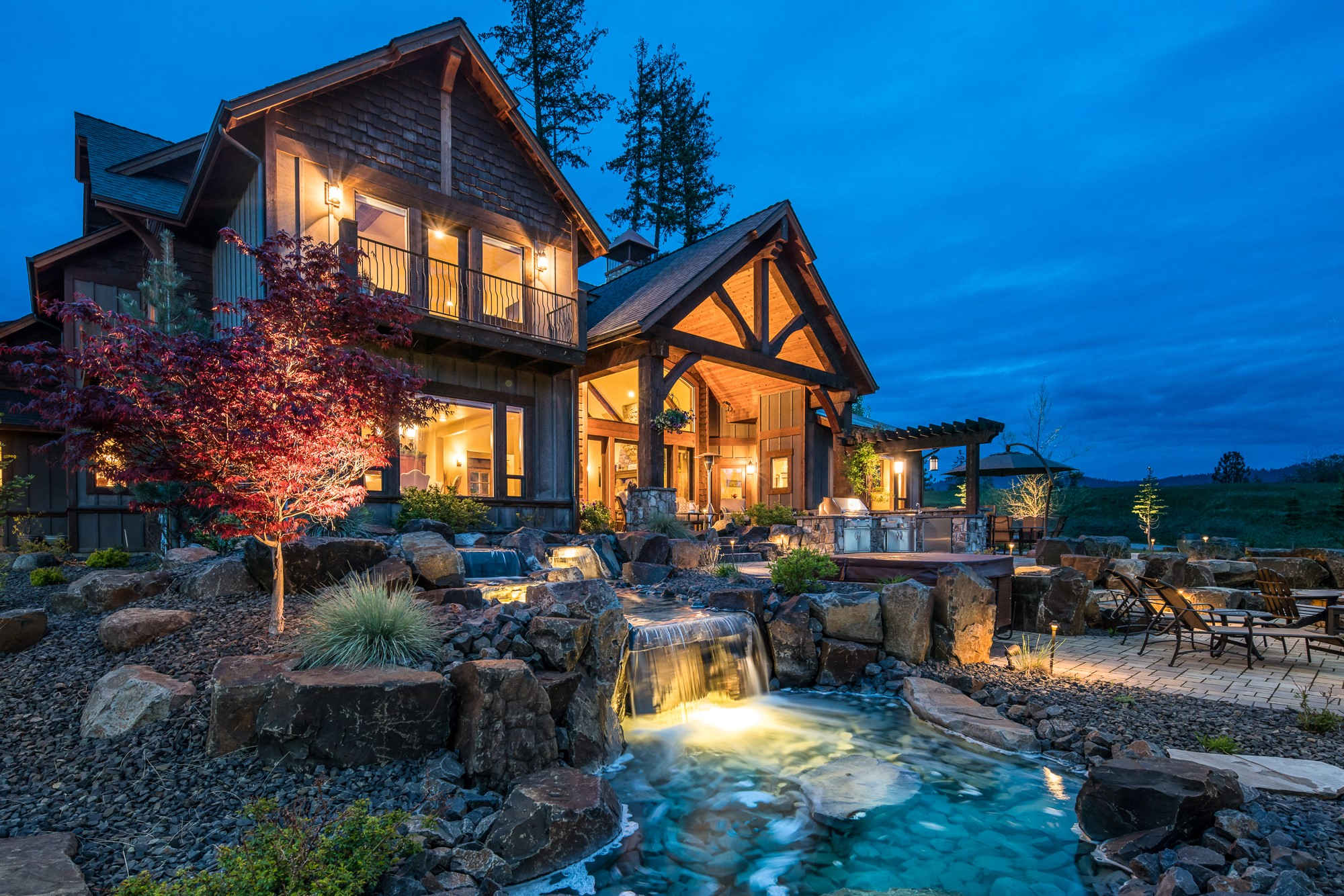 The Falls at Hayden Lake Luxury Real Estate - *RL Miller Photography